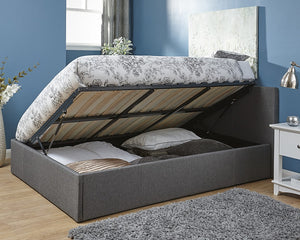 GFW Side Lift Fabric Ottoman Bed-Ottoman Beds-GFW-Single-Better Bed Company