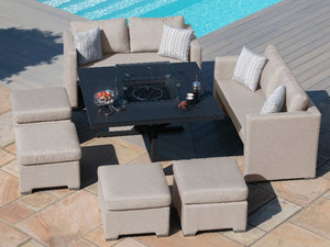 Maze Rattan Fuzion Sofa Cube Set with Fire Pit Sofa Set-Better Bed Company