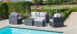 Maze Rattan Georgia 2 Seat Sofa Set with Ice Bucket-Sofas-Maze Rattan-Brown-Better Bed Company