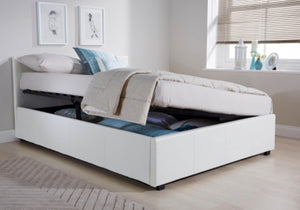 GFW Side Lift Ottoman Bed Open View-Better Bed Company