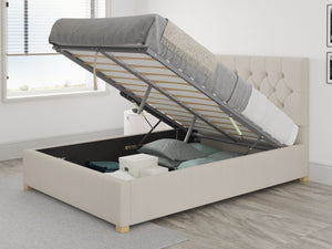 Better Finchen Off White Linen Ottoman Bed-Ottoman Beds-Better Bed Company-Single-Better Bed Company