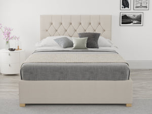 Better Finchen Off White Linen Ottoman Bed-Ottoman Beds-Better Bed Company