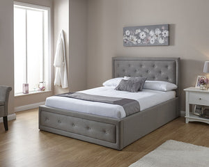 GFW Hollywood Fabric Ottoman Bed-Ottoman Beds-GFW-Single-Better Bed Company