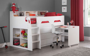 Julian Bowen Jupiter Mid Sleeper Bed White-Better Bed Company