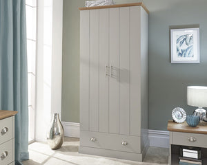 GFW Kendal 2 Door 1 Drawer Wardrobe-Better Bed Company