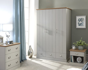 GFW Kendal 3 Door 3 Drawer Wardrobe-Better Bed Company