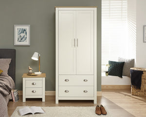 GFW Lancaster 2 Door 2 Drawer Wardrobe-Better Bed Company