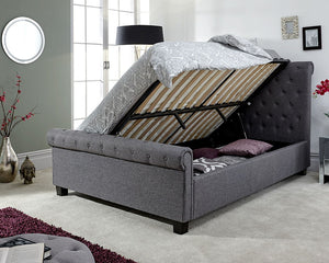 GFW Layla Ottoman-Ottoman Beds-GFW-Double-Grey-Better Bed Company