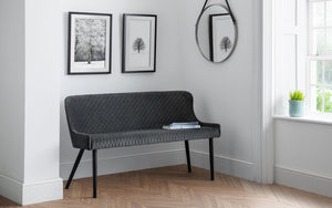 Julian Bowen Luxe High back Bench Grey-Better Bed Company