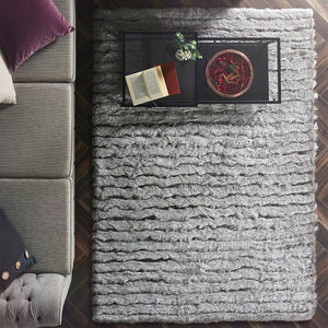 Origins Carved Glamour Rug Silver-Better Bed Company