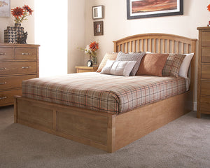 Madrid Oak Ottoman Bed-Ottoman Beds-GFW-Double-Better Bed Company