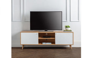 Julian Bowen Moritz TV Cabinet White And Oak-Better Bed Company