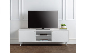 Julian Bowen Moritz TV Cabinet White-Better Bed Company