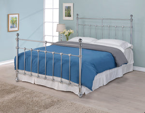 Artisan Silver Chrome Metal Bed-Better Bed Company
