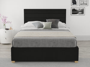 Better Night Time Weave Ebony Single Ottoman Bed-Better Bed Company