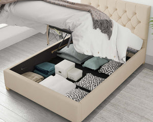 Better Finchen Cream Ottoman Bed-Ottoman Beds-Better Bed Company