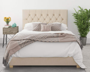 Better Finchen Cream Ottoman Bed-Better Bed Company