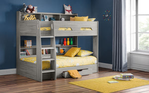 Julian Bowen Orion Bunk Bed Grey Oak-Julian Bowen-Better Bed Company