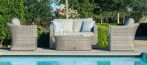 Maze Rattan Oxford 2 Seat Sofa Set-Better Bed Company