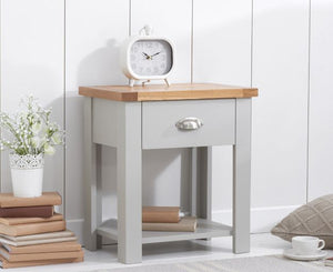 Mark Harris Furniture Sandringham Oak And Grey Nightstand-Better Bed Company