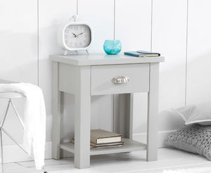 Mark Harris Furniture Sandringham Grey Nightstand At Another View-Better Bed Company