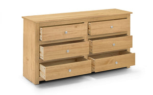 Julian Bowen Radley 6 Drawer Chest In Waxed Pine-Better Bed Company