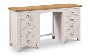 Julian Bowen Richmond Twin Pedestal Dressing Table-Better Bed Company