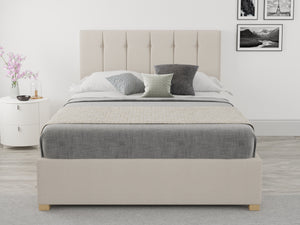 Better Rorier White Fabric Ottoman Bed-Better Bed Company