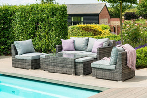 Maze Rattan Seville 2 Seat Sofa Set-Sofas-Maze Rattan-Brown-Better Bed Company