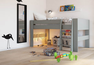 Steens Memphis Grey Mid Sleeper-Steens Furniture For Kids-Better Bed Company