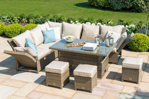 Maze Rattan Henley Corner Dining Set With Rising Table-Sofas-Better Bed Company