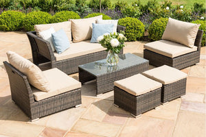 Maze Rattan Seville 2 Seat Sofa Set Brown-Better Bed Company