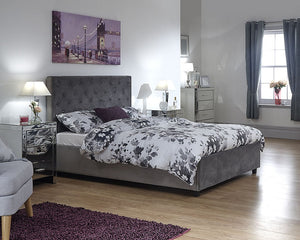 GFW Utah Ottoman Bed-Ottoman Beds-GFW-Double-Grey-Better Bed Company