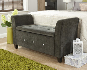 GFW Verona Diamante Window Seat-GFW-Grey-Better Bed Company