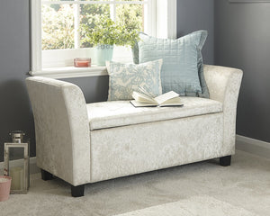 GFW Crushed Velvet Window Seat-GFW-Oyster-Better Bed Company