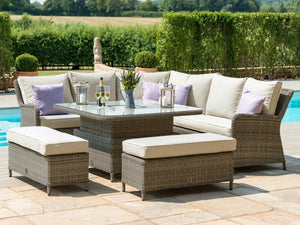 Maze Rattan Winchester Royal Corner Sofa Set-Better Bed Company