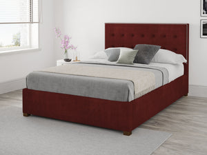 Better Henley Red Fabric Ottoman Bed-Ottoman Beds-Better Bed Company-Single-Better Bed Company