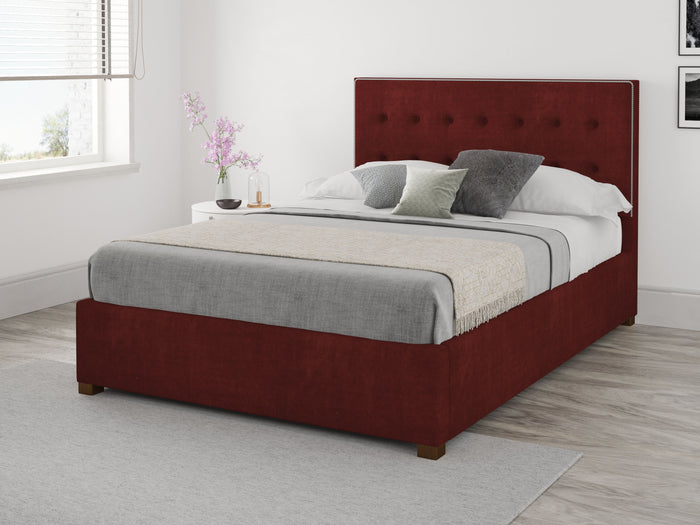 Better Henley Red Fabric Ottoman Bed