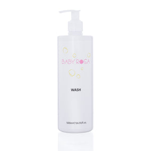 Non-foamy. Natural and organic baby body wash for protecting and hydrating delicate skin. Contains camomile and almond oil to reduce inflammation. High in vitanine E for smooth skin.