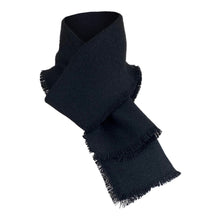 Load image into Gallery viewer, Harris Tweed Black Scarf
