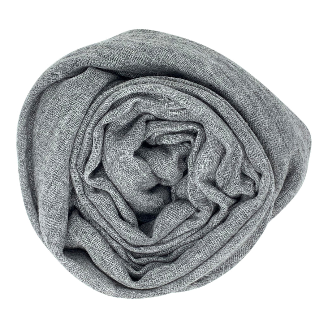 cashmere of nepal scarf folded with Shawl Dim Grey colours.