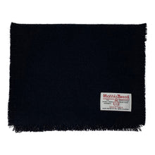 Load image into Gallery viewer, Harris Tweed of Scotland Scarf in a Black colour