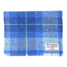 Load image into Gallery viewer, Harris Tweed of Scotland Scarf in a Sky Blue Check