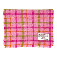 將圖片載入圖庫檢視器 Harris Tweed of Scotland Scarf in a Pink, Green and Orange Check