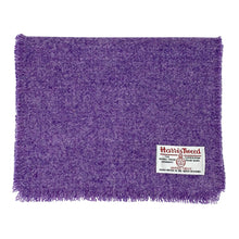 Load image into Gallery viewer, Harris Tweed of Scotland Scarf Purple