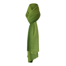 Load image into Gallery viewer, long cashmere of nepal scarf with Shawl Duo Green colour