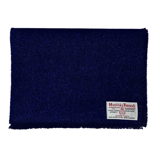 Harris Tweed of Scotland Scarf in a Dark Blue colour