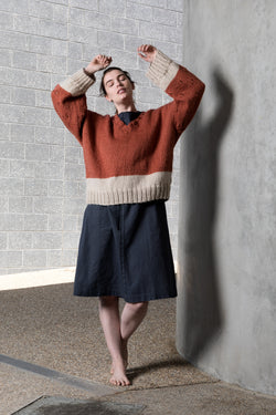 Merino wool copper over sized jumper