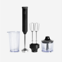 Multi-function Handheld Food Processor With Stepless Speed Regulation Whisk Attachments for Kitchen Food Processing