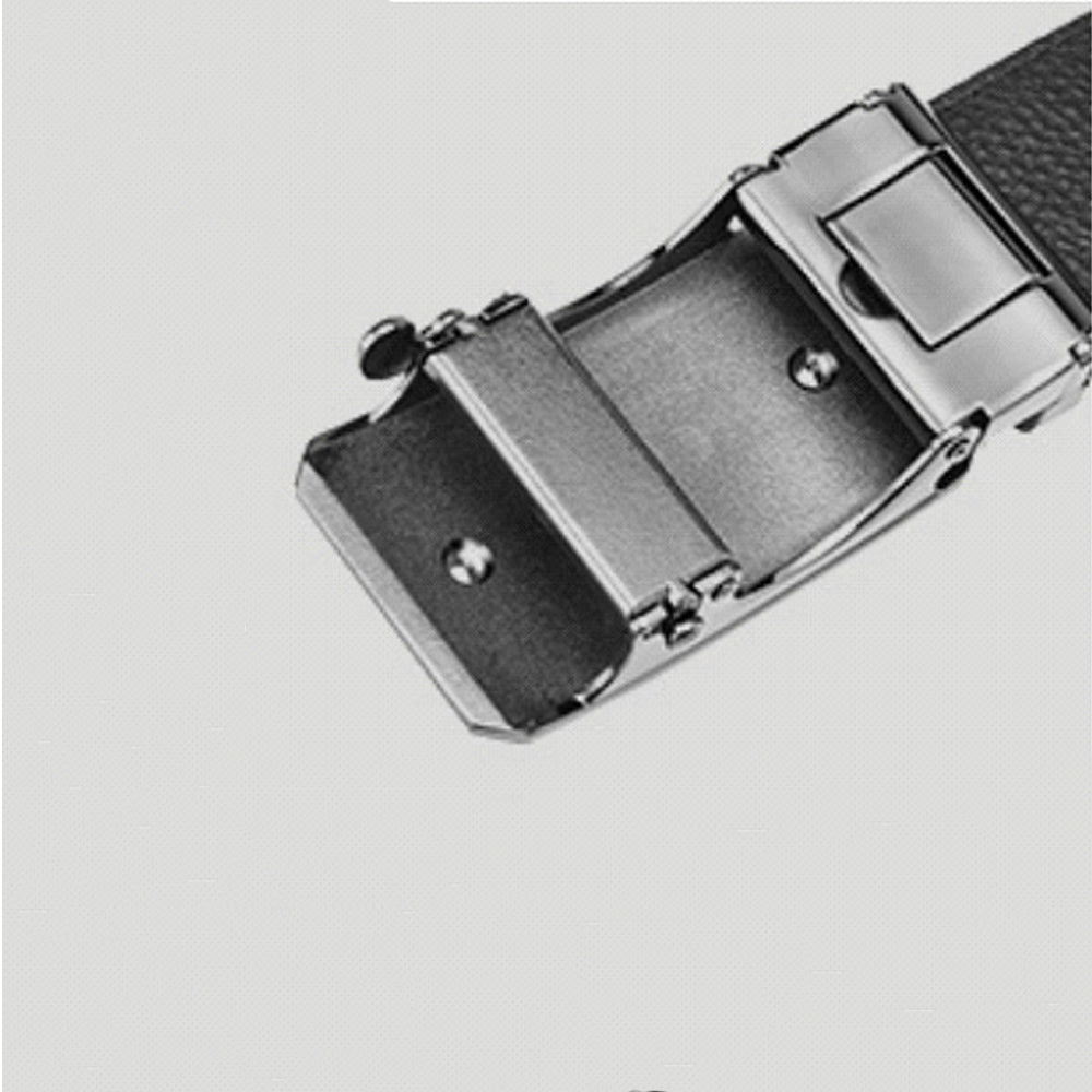 Men's First Layer Cowhide Leather Belt with Automatic Buckle